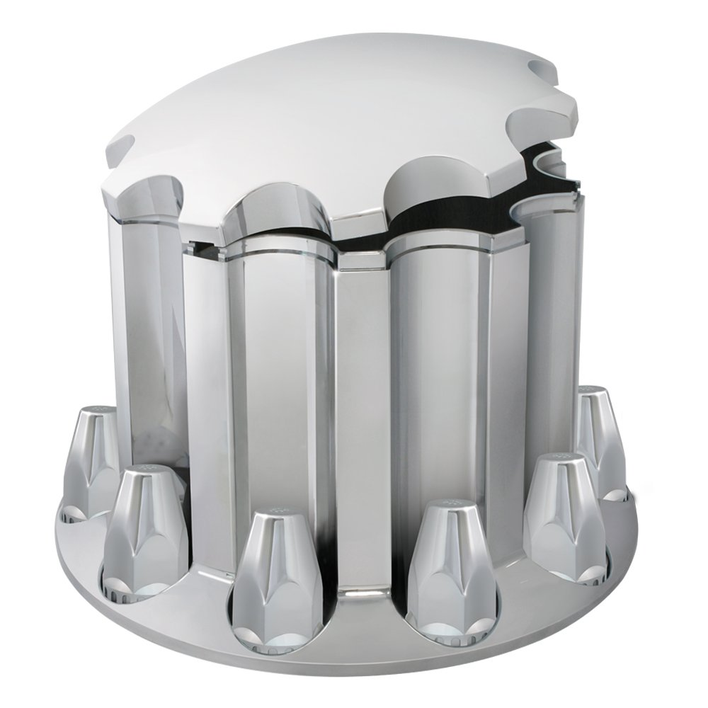 Grand General 40192 Chrome ABS Rear Axle Cover Set