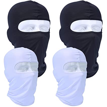 235de1f3fea AXBXCX 4 Pack - Breathable Balaclava Windproof Motorcycle Face Mask  Dustproof Sun UV Protection Helmet Liner