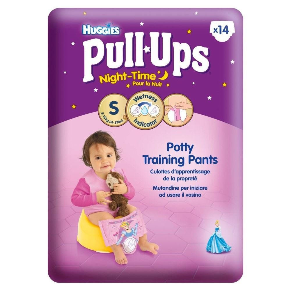Huggies Pull-Ups Night Time Potty Training Pants for Girls Size 4 Small 8-15kg (14)
