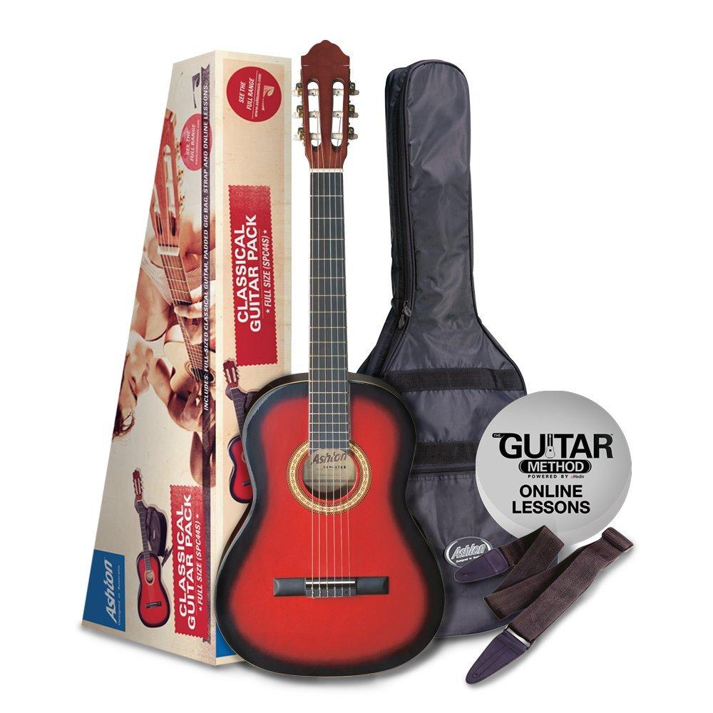 Ashton CG SPCG44TRB Full Size Classical Guitar - Transparent Red Burst