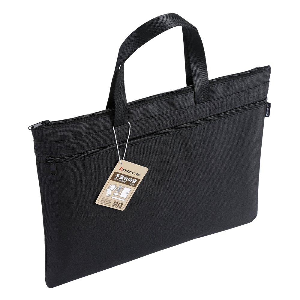 Comix布トートバッグ、ショッピング、ラップトップ、学校ブック、、Hey夏、a8158 ブラック A8158BK B07CYR8KRZ ブラック ブラック