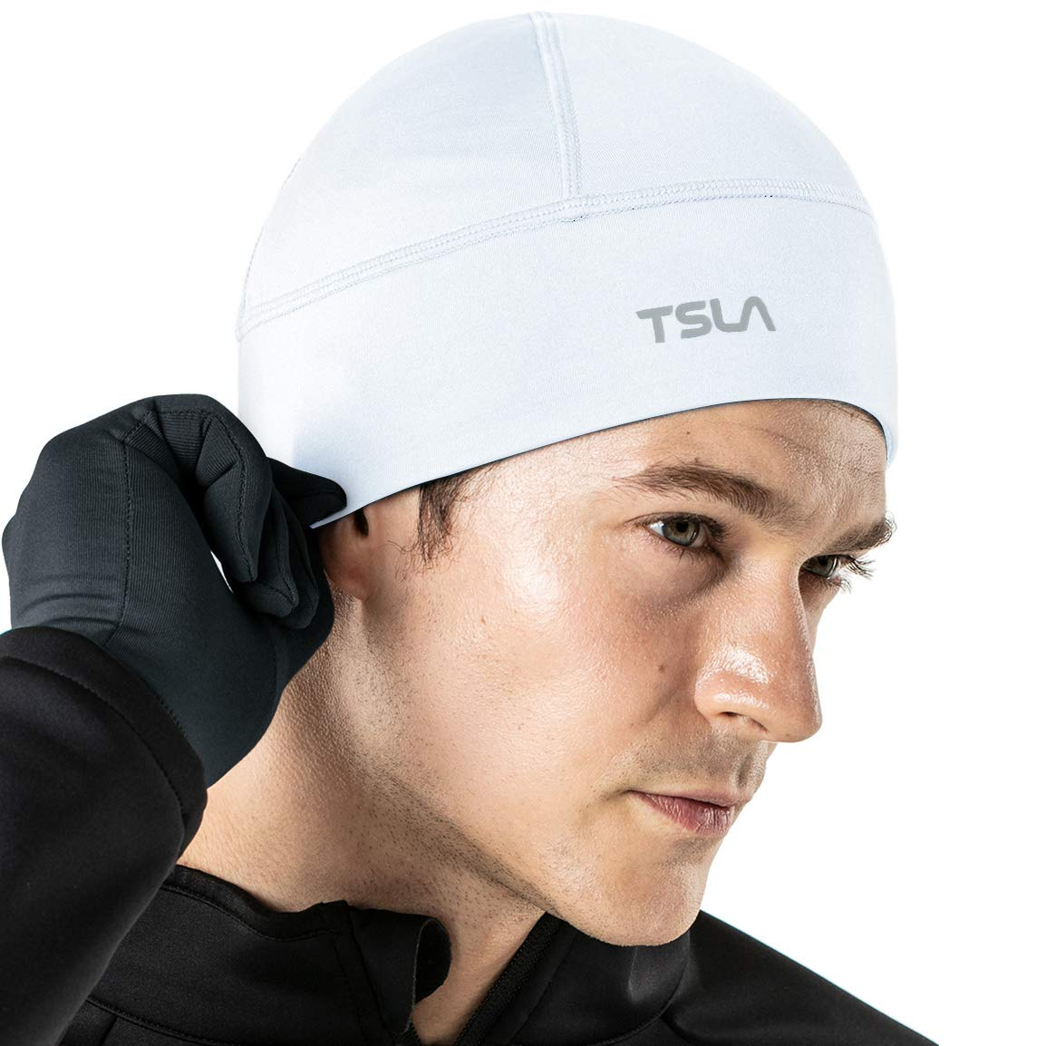 TSLA Unisex (Pack of 1, 2) Skull Cap Thermal Fleece Line Active Beanie Helmet Liner product image