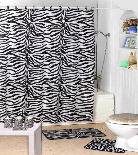 Jungle Safari Zebra Shower Curtain