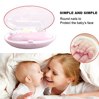 5e129692be6 Amazon.com   VANVENE Electric Baby Nail File Safe Infant Nail Clippers for  Newborn Upgraded Baby Nail Trimmer Kit For Toddler Toes and Fingernails  Care