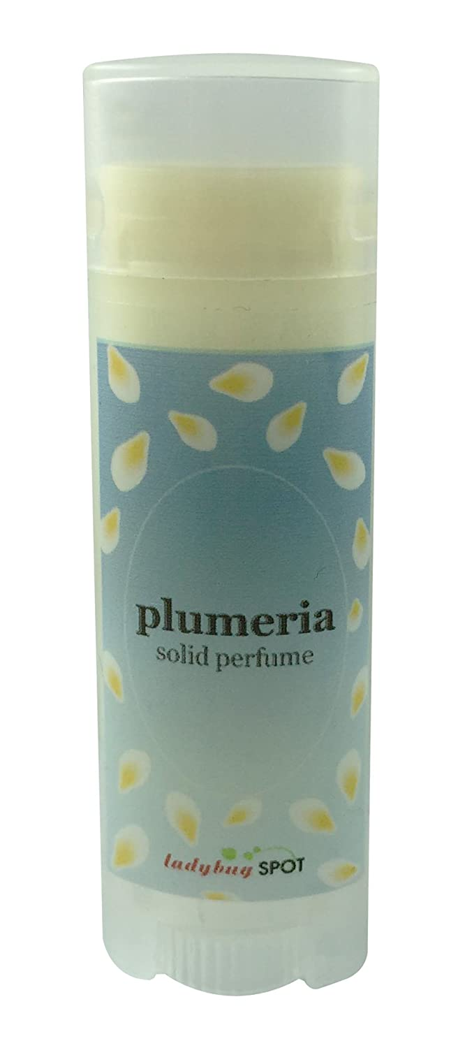 Handmade Natural Solid Perfume Roll Up Tube Travel Size - Plumeria Flower Scent 0.15 oz