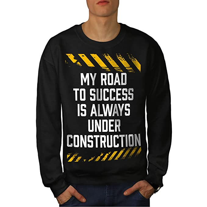 Wellcoda Road Success Joke Funny Womens Long Sleeve T-shirt Stop Casual Design