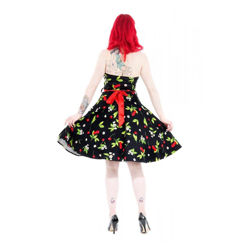 Hearts   Roses anni 50 pin Up Cherry Ciliegie Swing vestito Rockabilly nero  36 48  Amazon.it  Abbigliamento a31e4b605e7