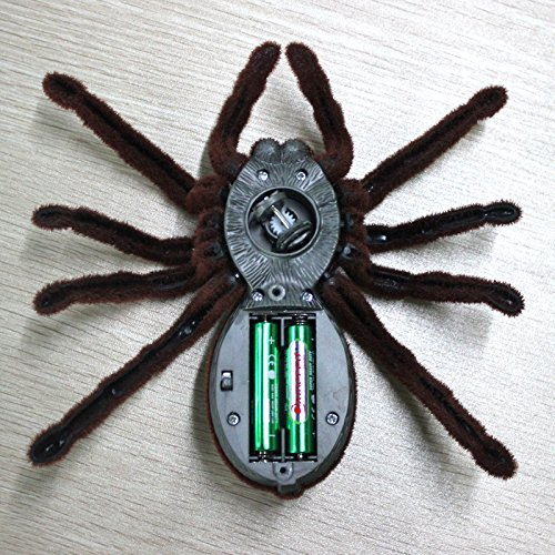Latburg Remote Control Spider Fright Props Prank Fake Spider Robot Games for Joke Novelty Spoof Electric Changeable Toy for Halloween Gift Decoration Party Stage Props (2CH) by Latburg (Image #3)