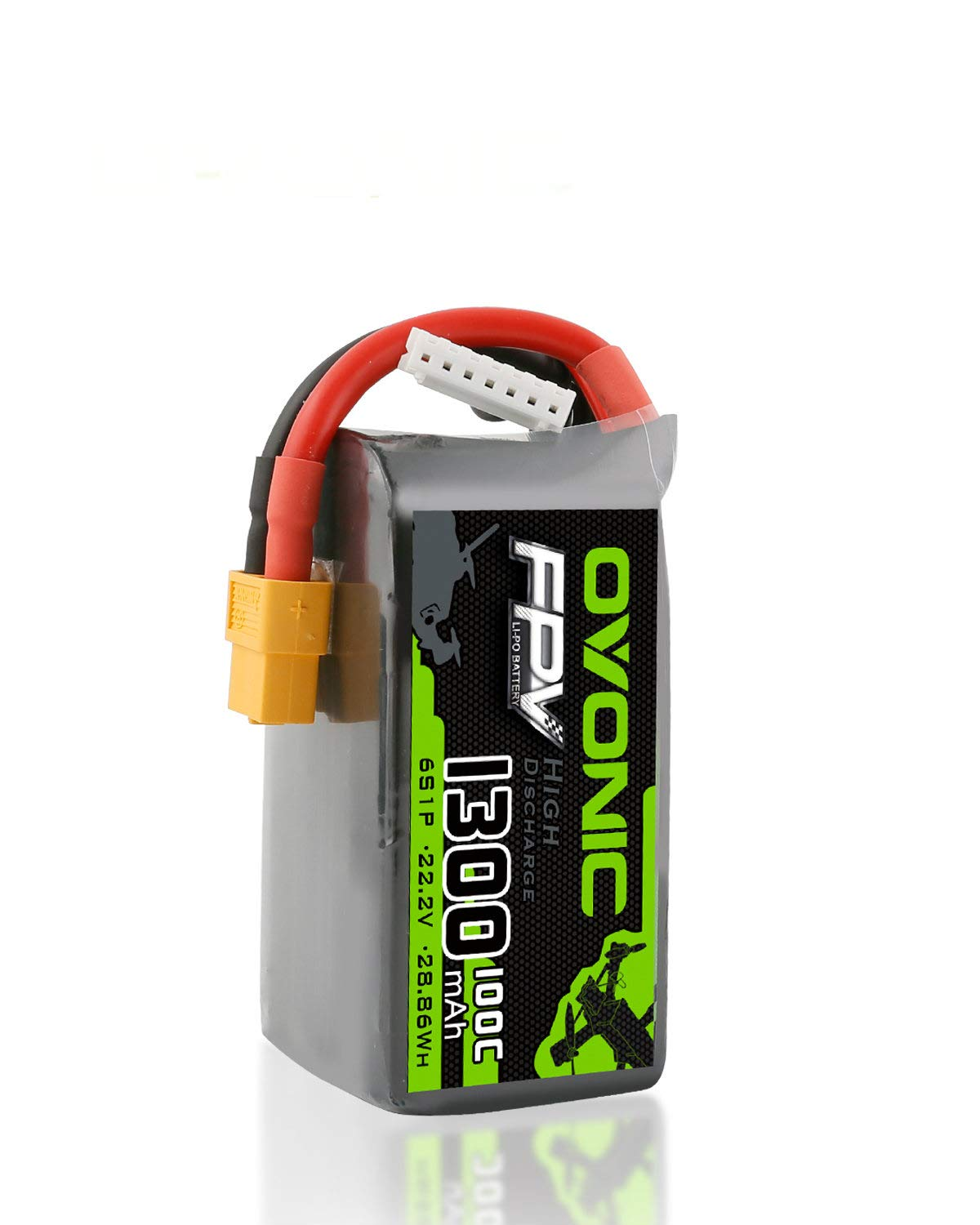 Ovonic 14.8V 1300mAh 100C 4S LiPo Battery Pack with XT60 Plug for FPV Racing RC Quadcopter Helicopter Airplane Multi-Motor Hobby DIY Parts
