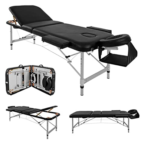 36066834aeb4 Massage Table Couch Bed Aluminium Deluxe Lightweight Professional Beauty  Tattoo Spa Reiki Portable Folded 3 Section ...