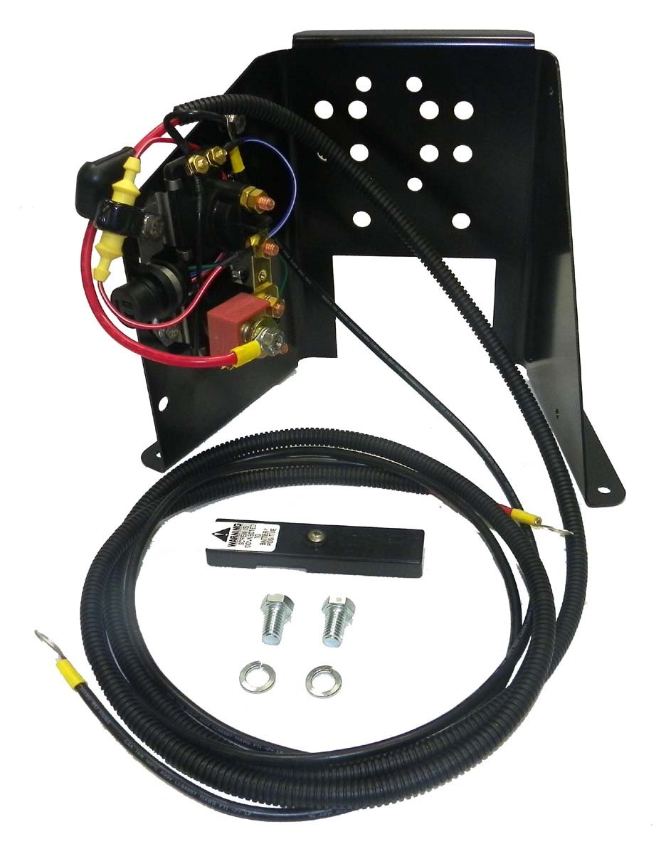 Mercury Trim Motor Powder Coated Steel Replacement T/T Bracket Complete with Solenoids Wiring Harness Fuse and OE Style Plug WSM PH200-T065-K