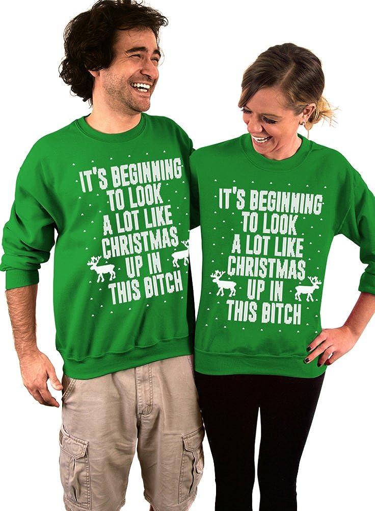 Dentz Design Its Beginning to Look A Lot Like Christmas Crew Neck Sweatshirt