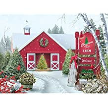 Bits and Pieces - 500 Piece Jigsaw Puzzle for Adults - Christmas Tree Farm - 500 pc Winter Holiday Snow Jigsaw by Artist Alan Giana
