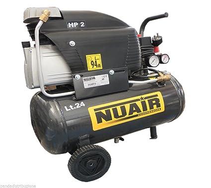 Compresores/compresor de aire sin aceite 24 lt. Nuair 2 HP refrigeración de aceite