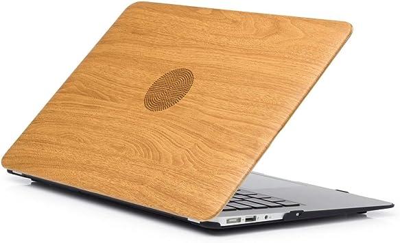 FENSHIX Estuche de Pasta de Cuero con patrón de Textura de Madera 03 Modelo Laptop Case for MacBook Pro 15.4 Pulgadas A1990 (2018) / A1707 (2016-2017) Sencillo y cómodo: Amazon.es: Electrónica