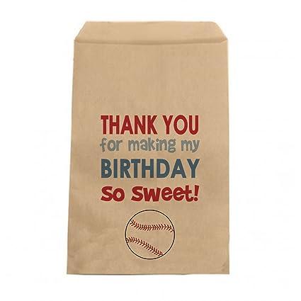 Amazon.com: Béisbol – Candy Bolsas de cumpleaños niños ...
