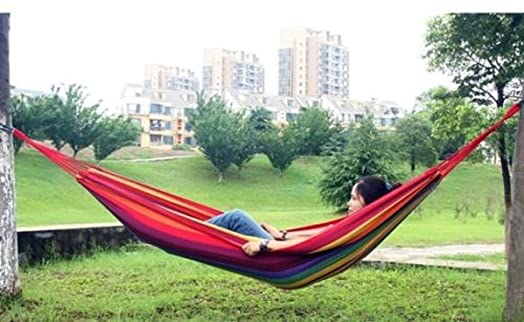 Gorgeous Multicoloured Modern Hammock Indoor Outdoor Camper Relax Chair Bed Home Garden Patio Furniture Camping Relaxing
