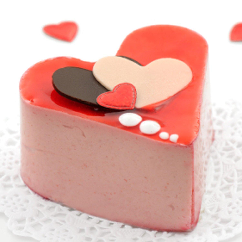 Freshware SL-125RD 6-Cavity Silicone Double Heart Muffin Jello Shot and Soap Mold Cheesecake Panna Cotta Cornbread Brownie Pudding