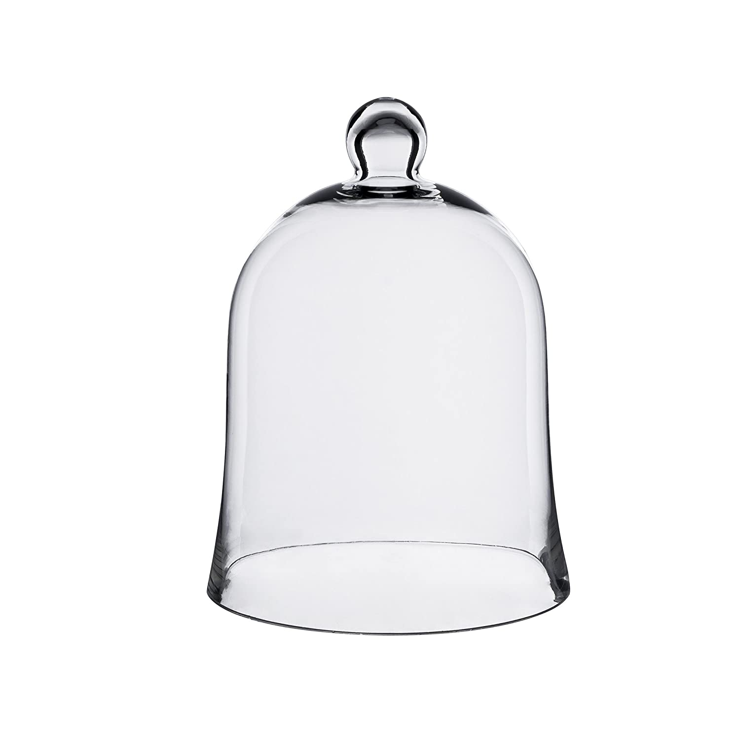 CYS GCL108 Cloche Bell Glass Dome with Tray, 7.5