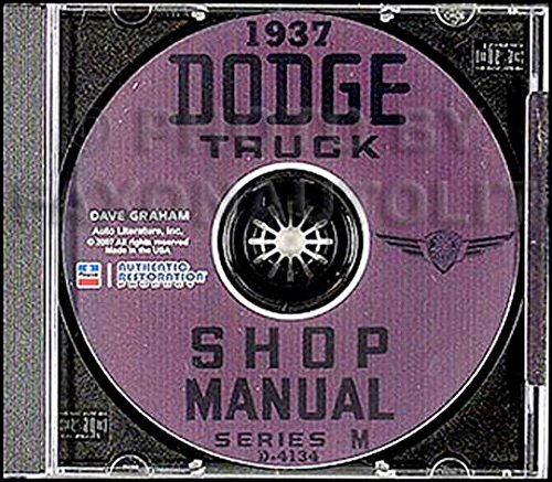 Mf Steering - FULLY ILLUSTRATED 1937 DODGE TRUCK & PICKUP FACTORY REPAIR SHOP & SERVICE MANUAL On CD - COVERS; series MC, MD, ME, MF, MG, MH, and MK - 37