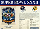 super bowl 32 patch - Super Bowl XXXII Official Patch Denver Broncos vs Green Bay Packers at Qualcomm Stadium