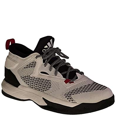 huge selection of 97869 deab2 Amazon.com  adidas Men s D Lillard 2 PK Basketball White Core Black Scarlet  10.5 D(M) US  Shoes