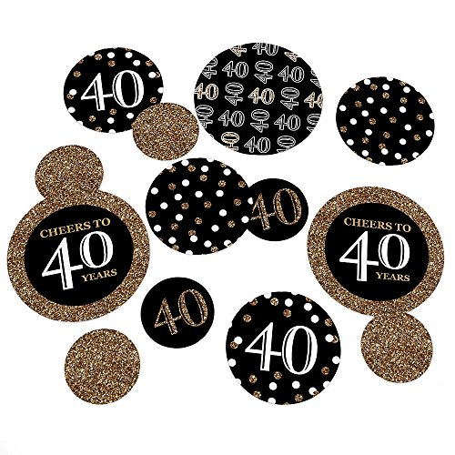 Adult 40th Birthday - Gold - Birthday Pa - 40th Birthday Table Decorations Shopping Results