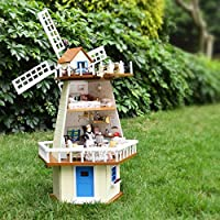 Cuteroom DIY Wooden Dollhouse Monsoon Expectation Handmade Decorations Model with LED Light&Music