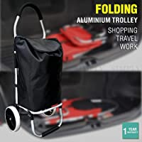 Shopping Cart Trolley Grocery Aluminium Foldable Luggage Wheels Basket Carts Bag