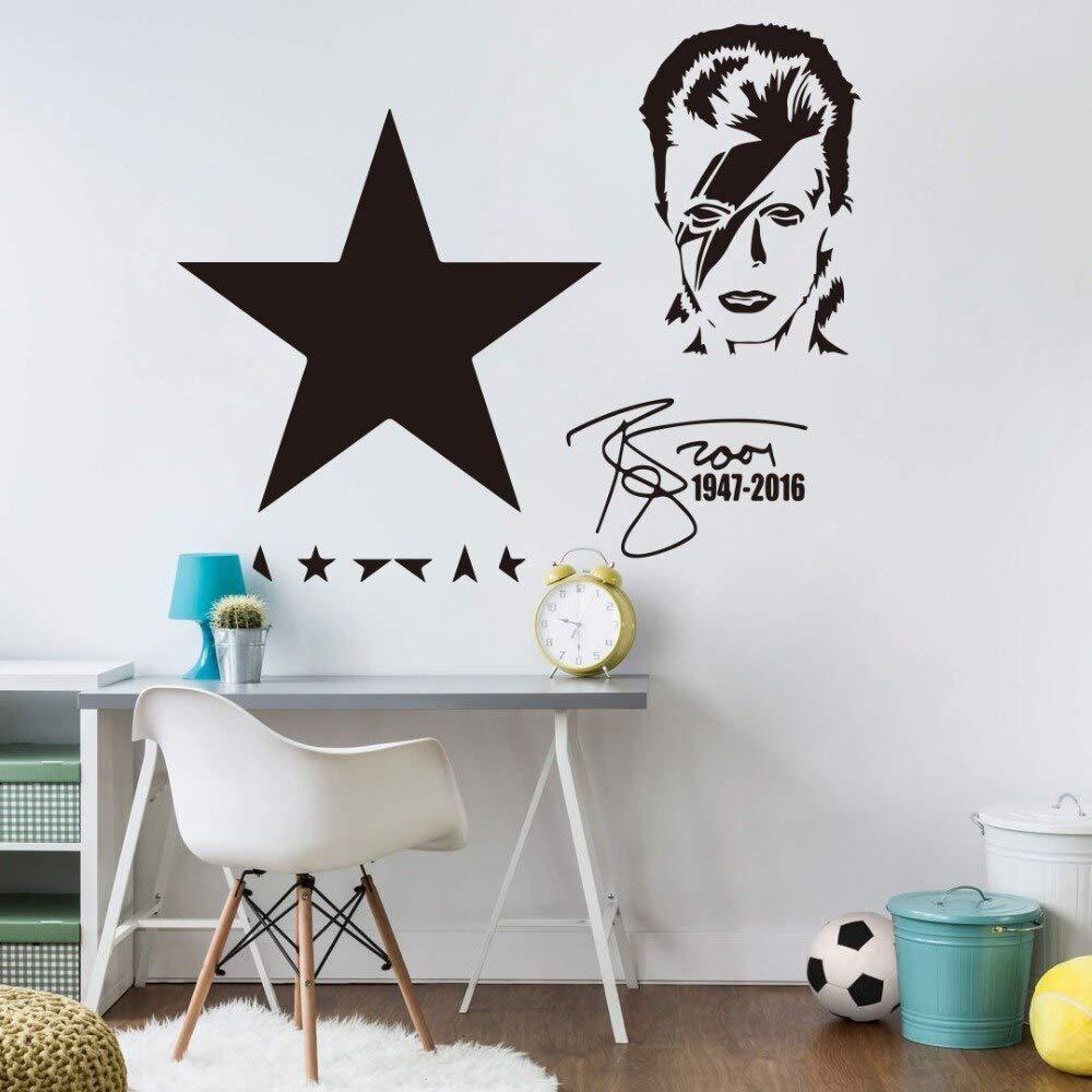 hllhpc David Bowie Autograph Negro Estrella Tatuajes de Pared ...