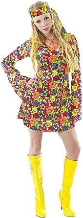 ORION COSTUMES Disfraz de Festival Hippie de los años 60 70 ...