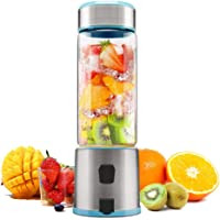 TTLIFE S-POW Portable Glass Smoothie Blender, USB Rechargeable