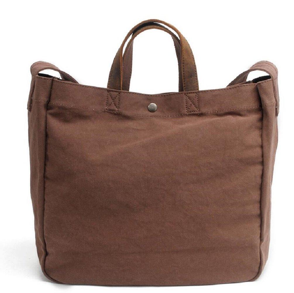 ZC&J Damen-Segeltuchhandtasche, beiläufige einfache Handtaschen-Schulterbeutel, geöffnete Beutel, feste Abnutzung, reisen Sie Reisecomputer-kosmetische Tasche