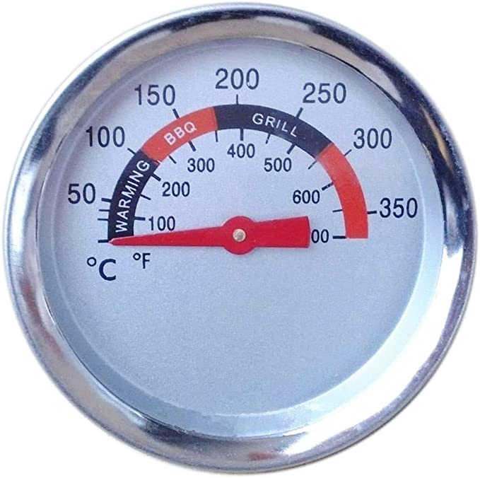 Cooking 0~400°C BBQ Thermometer Heat Indicator Temp Gauge For Charbroil Grill