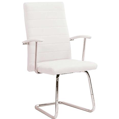 Sillón de confidente despacho modelo LOOK color blanco ...
