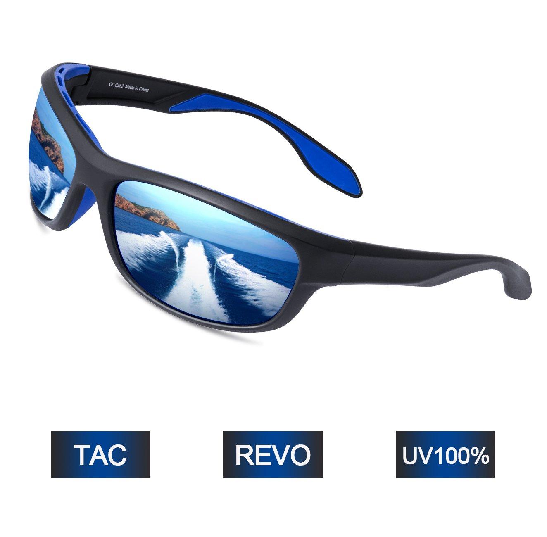 Elegear Gafas de Sol Hombre Polarizadas Gafas Deportivas Súper Ligero y Cómodo Anti UVA UV Marco