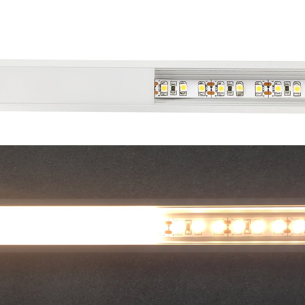 LightingWill 10-Pack 3.3ft//1M 9x23mm Silver U-Shape Internal Width 12mm LED Aluminum Channel System with Cover End Caps and Mounting Clips Aluminum Extrusion for LED Strip Light Installations-U01S10