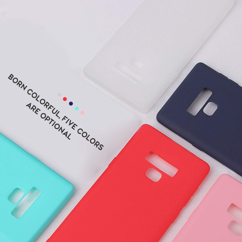 Azsunnyshow Caramella Colore Cover Ultra Sottile in Morbido TPU per Samsung Galaxy S10 S9 Plus S10e Note 9 8