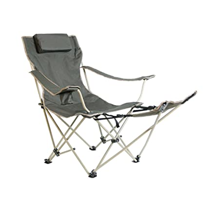 HMu0026DX Portable Outdoor Folding Chairs Camping Chairs With Footrest Cup  Holder Adjustable Back Heavy Duty Multi