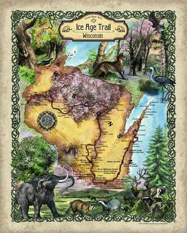 ice age trail map - 5