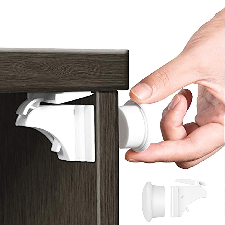 2019激安通販 IEKAキャビネットロック、キャビネットと引き出し用チャイルドセーフティ磁気式キャビネットロック、工具やネジ不要、穴あけ不要で、簡単設置(ロック4個+キー2個)   B06XT89FTC, 肩こりストレスセルライトの本格屋:3ad73f4a --- digitalmantraacademy.com