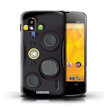 Carcasa/Funda STUFF4 dura para el LG Nexus 4/E960 / serie: Consola de juegos - Xbox 360 negro