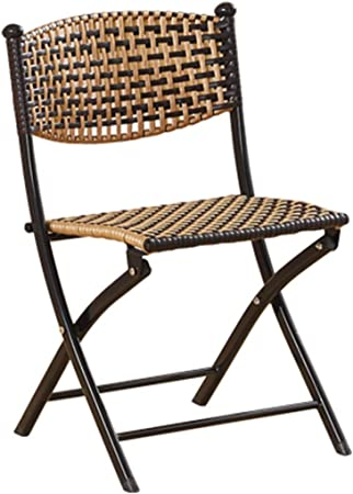 YUESFZ Chaises Pliantes Chaise Pliante en Rotin Chaise De