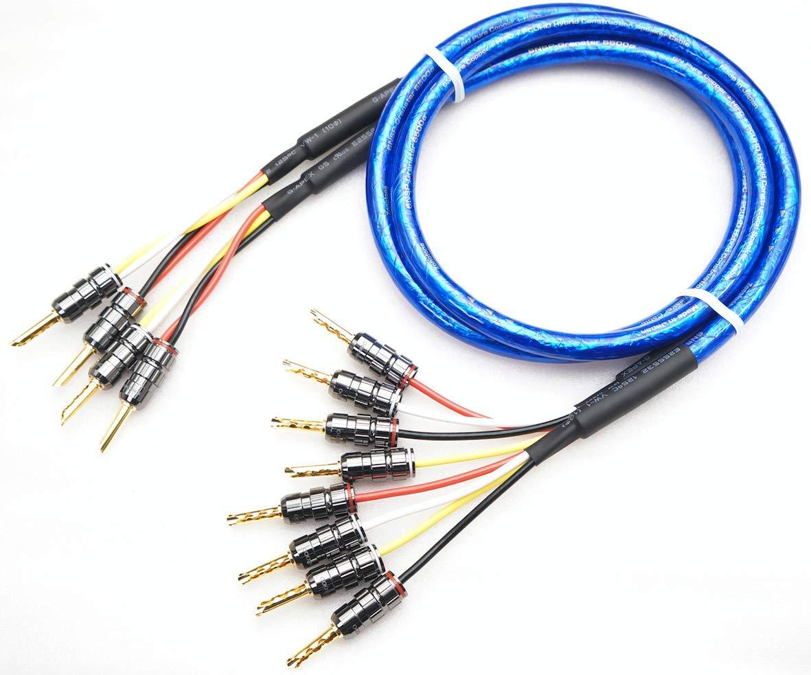 品質一番の ZONOTONE 6NSP-Granster 5500α ZONOTONE バイワイヤリング対応 5500α 2本ペア ベリリウム銅製 金メッキ バナナプラグ付 スピーカーケーブル(2本-4本) (1.5m) (1.5m) 1.5m B07QQLXV8Y, Rafie:fa6a4aa0 --- efichas.com.br