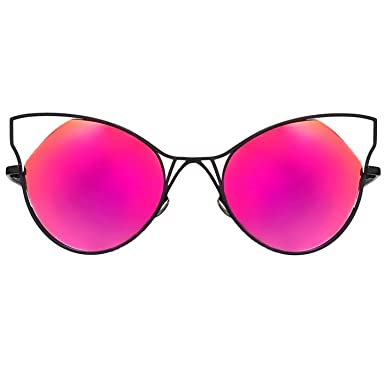 0445bc7b49 Amazon.com  TopFoxx Indecent High Fashion Cateye Sunglasses for ...