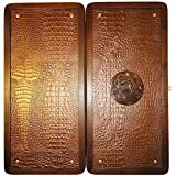 "21"" Crimea Backgammon Set. Crimean Sea Ship. Russian Board. Leather Pieces."
