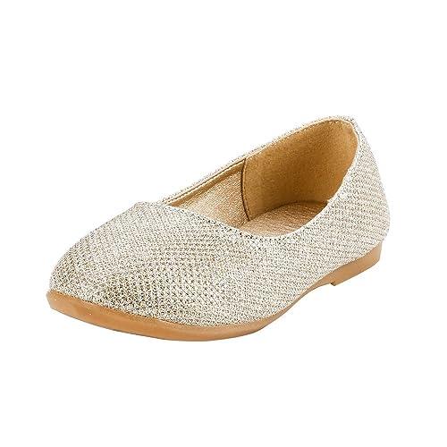 Ltd - Mocasines de Tela para niña Dorado Dorado: Amazon.es: Zapatos y complementos