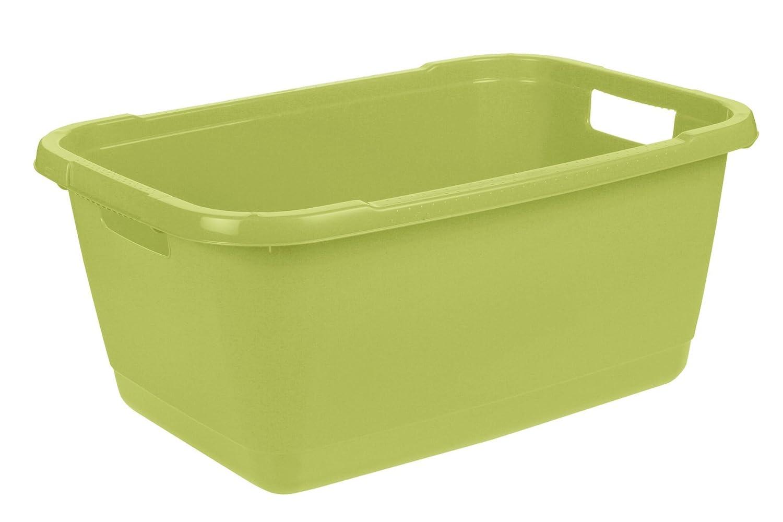 32 L Aenna Plastica Resistente keeeper Conca per Il Bucato Verde