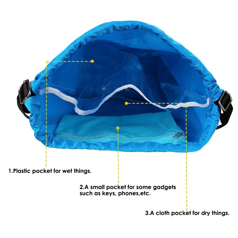 DEKINMAX Zaino da Palestra Sacco da Palestra Borse con Coulisse Sackpack per Sport Nuoto Viaggio