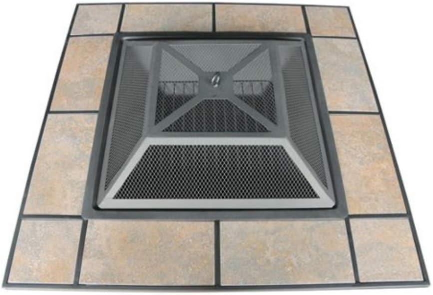Axxonn Tuscan Ceramic Tile Top Fire Pit Black Antique Bronze Model Ft501ptesmlid Patio Lawn Garden Fire Tables